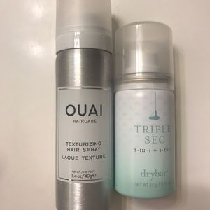 Free gift with bundle - OUAI and drybar texturizer